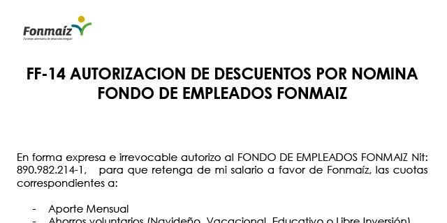FF-14-Autorizacion-Descuentos-Fonmaiz